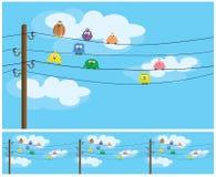 Oiseaux de bande dessinée Image stock