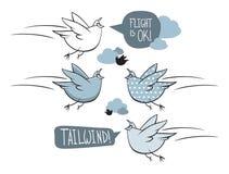 Oiseaux de bande dessinée Image libre de droits