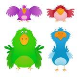 Oiseaux de dessin animé Photo libre de droits