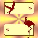 oiseaux de drapeau Image libre de droits