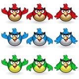 Oiseaux de hibou Images stock