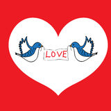 Oiseaux de l'amour Photos stock