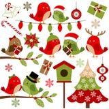 Oiseaux de Noël Photo libre de droits