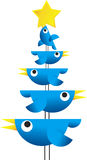 Oiseaux de Noël de Twitter Photos stock