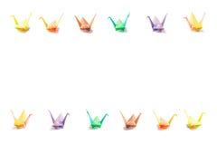 Oiseaux de papier colorés Photo libre de droits