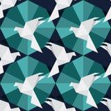Oiseaux de papier d'origami illustration de vecteur
