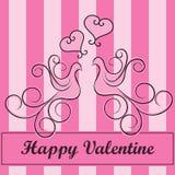Oiseaux de Valentine Photographie stock libre de droits
