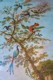 Oiseaux du paradis sur une peinture d'arbre illustration libre de droits