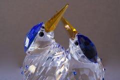 Oiseaux en cristal Photo libre de droits