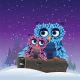 Oiseaux en hiver illustration libre de droits