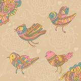 oiseaux et fleurs décoratifs illustration de vecteur
