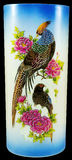 Oiseaux et fleurs de vase à porcelaine Photo libre de droits