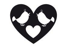 Oiseaux et foyer illustration stock
