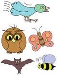 Oiseaux et insectes Photos stock