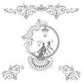 Oiseaux féeriques de mariage illustration stock