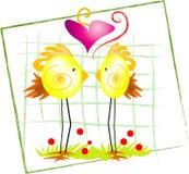 Oiseaux heureux Photo stock