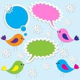 Oiseaux mignons illustration stock