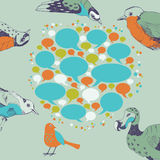 Oiseaux parlants illustration stock