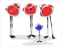Oiseaux rouges avec petit Guy Bluebird illustration libre de droits