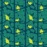 Oiseaux scandinaves dans un modèle de Bush - illustration illustration de vecteur