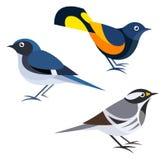 Oiseaux stylisés illustration de vecteur
