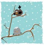 Oiseaux sur l'arbre. Illustration Stock