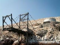 Oiseaux sur le paysage de Ballestas de structure Photographie stock