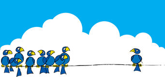 Oiseaux sur un fil #3 Images libres de droits
