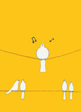 Oiseaux sur un fil illustration stock