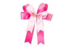 Oisolate cor-de-rosa da curva da fita no branco com trajeto de grampeamento Imagem de Stock Royalty Free