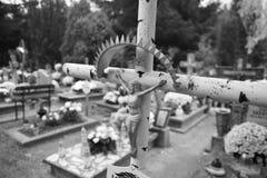 Oitava de todos os Saint Olhar artístico em preto e branco Fotos de Stock Royalty Free