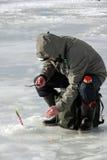 Oitavo campeonato da pesca do gelo do mundo na região de Kharkiv, Ucrânia os 5-6 de fevereiro de 2011 Fotografia de Stock