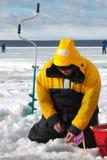Oitavo campeonato da pesca do gelo do mundo na região de Kharkiv, Ucrânia os 5-6 de fevereiro de 2011 Imagens de Stock