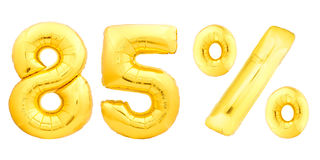 Oitenta e cinco 85 por cento dourados Fotografia de Stock
