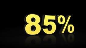 Oitenta e cinco rendição dos por cento 3D de 85% ilustração royalty free