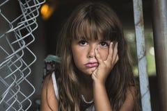 Oito anos de menina da velha escola Imagem de Stock