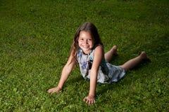 Oito anos de menina idosa Foto de Stock Royalty Free