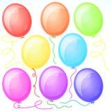 Oito balões bonitos do partido. Fotografia de Stock