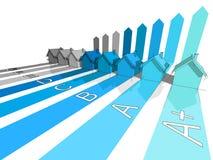 Oito casas Foto de Stock