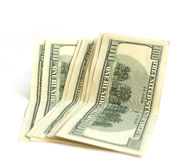 Oito cem contas de dólar no branco Imagens de Stock Royalty Free