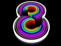 Oito coloridos Fotografia de Stock Royalty Free