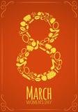 Oito 8 de março, fundo do dia das mulheres Fotos de Stock Royalty Free