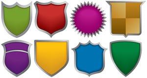 Oito emblemas para logotipos ilustração stock