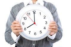 Oito horas imagem de stock