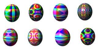 Oito ovos da páscoa Imagens de Stock Royalty Free