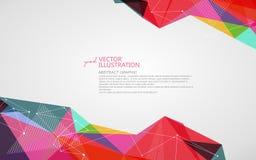 Ojämn form av prickar, fodrar och framsidor, abstrakt begreppdesign royaltyfri illustrationer
