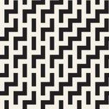 Ojämn Maze Shapes Tiling Contemporary Graphic design seamless vektorwhite för svart modell Arkivfoto
