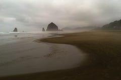 Ojämn Oregon kustlinje Arkivbild