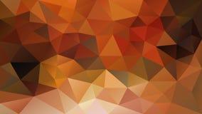 Ojämn polygonal bakgrund för vektor - för triangel poly modell lågt - guling för nedgånghöstfärg, apelsin, ockra, rostigt rött, K stock illustrationer
