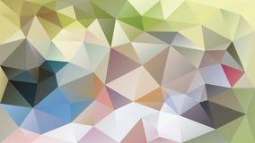 Ojämn polygonal bakgrund för vektor - för triangel poly modell lågt - ljus pastellgräsplan, grå färger, rosa färger, blått, kakie Arkivfoton